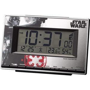 STAR WARS スターウォーズ 目覚まし時計 電波 デジタル デス・トルーパーM133 限定商品 赤 リズム時計 8RZ133MD01|sawagift