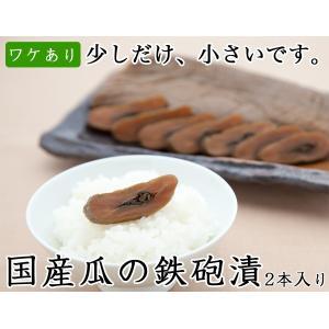 手作り鉄砲漬2本入り 国産 ワケあり 漬物 醤油漬け 瓜 製造元直送 sawatsuke