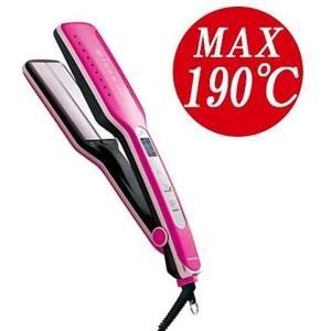 ロングヘアーのあなたに最適! 190の高温プレートでしっかりストレートをキープ、濡れた髪にも使えるW...