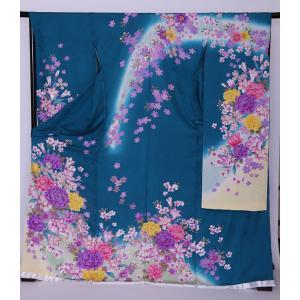 新品フルセット振袖 販売 正絹 振袖・帯フルセット 着物-FS-014- 身長 自由 あなたのサイズに [成人式・20歳の儀式] [送料無料]|sazanamijapan