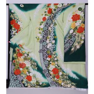 新品フルセット振袖 販売 正絹 振袖・帯フルセット 着物-FS-015- 身長 自由 あなたのサイズに [成人式・20歳の儀式] [送料無料]|sazanamijapan