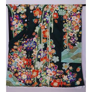 新品フルセット振袖 販売 正絹 振袖・帯フルセット 着物-FS-019- 身長 自由 あなたのサイズに [成人式・20歳の儀式] [送料無料]|sazanamijapan