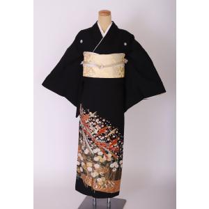 レンタル黒留袖フルセット-KT037-身長145cm〜158cm [結婚式・婚礼] 着物レンタル 貸衣装 [往復送料無料] sazanamijapan
