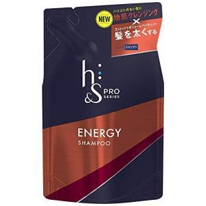 h&s PRO (エイチアンドエス プロ) メンズ シャンプー エナジー 詰め替え (ボリューム重視) 300mL|sazanamisp