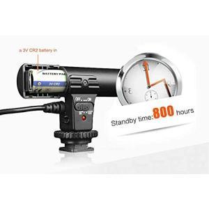 外付けガンマイク 高音質インタビュー カメラマイク デジタル一眼、ミラーレス対応 集音レンジ調節機能...