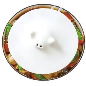 マーナ(MARNA) ブタの落しぶた ホワイト 17.5cm K092|sazanamisp