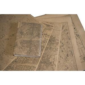 紙製ブックカバー パリ古地図 (クラフト紙)|sazanamisp