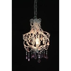 不二貿易 シャンデリア 1灯 タイプ BS284-14 ピンク 電球:E12タイプ LED対応 94452|sazanamisp