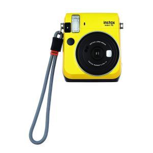 FUJIFILM インスタントカメラ チェキ instax mini70・90用ハンドストラップ グレー 315363|sazanamisp