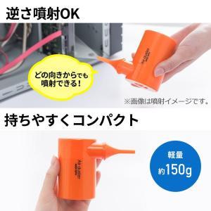 サンワダイレクト 電動エアダスター 充電式 コンパクト ノズル付き ガス不使用 逆さ使用対応 200...