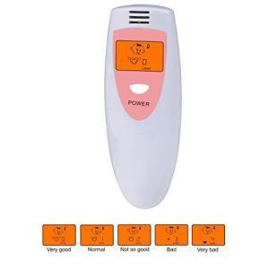 COM-SHOT 瞬間 測定 デジタル 口臭 チェッカー コンパクト 5段階 レベル 表示 エチケット 大人 子供 予防 検査 単4 電池 sazanamisp