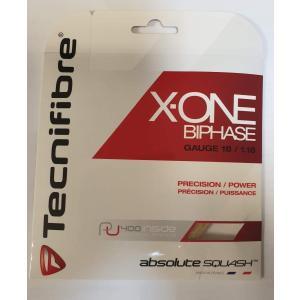テクニファイバー(Tecnifibre) スカッシュ用ストリング、ゲージ1.18mm X-ONE amber 1.18 TF 118 半透明
