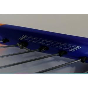 (S19) ブルー スカッシュ用 ラケット カーボン製で超軽量国内最安値級 軽量でタフな構造