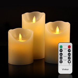 LED キャンドル ライト 専用リモコン付き 自動消灯タイマー 癒し 雰囲気 (3点セット)|sazanamisp