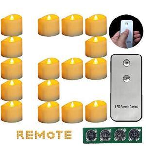 キャンドルライト 蝋燭 クリスマス 誕生日用 12個入り YELLOW LED キャンドルライト リモコン付き ろうそく 電池式 キャンドル|sazanamisp