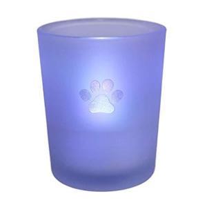 燭台 ペット仏具 七色に光る LEDキャンドル 火を使わないろうそく (肉球)|sazanamisp