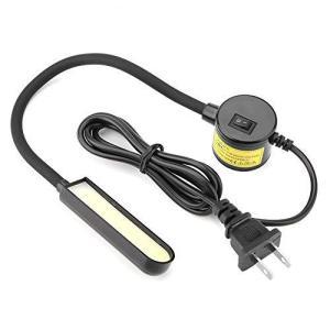 ミシンライト、6W COB LED省エネ多目的ポータブルフレキシブルグースネックランプ 磁気マウントベース 明るい光 ミシン旋盤用(1)|sazanamisp