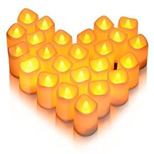 Litake LED キャンドル キャンドルライト 24個セット 電池ろうそく 無香料 ティーライト 揺らぐ炎 波形の口 暖白 ウォームホワ|sazanamisp