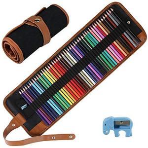 CestMall 50色鉛筆 油性色鉛筆 アート鉛筆 塗り絵セット お絵描き 水溶性鉛筆 鮮やか 収納ケース付け 携帯便利 収納便利 美術専 sazanamisp