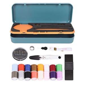 裁縫セット ソーイングセット 16色縫い糸あり 裁縫道具 コンパクト ポータブルミシンアクセサリー 小学生 家庭科 大人 家庭用 旅行 出張 sazanamisp