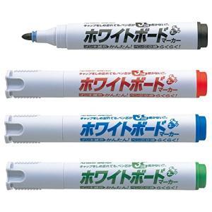 シヤチハタ アートライン潤芯ホワイトボードマーカー K-527/4W 丸芯 4色セット|sazanamisp