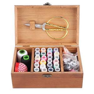 木製 ソーイングボックス、裁縫セット大人 ソーイングセット 大人用 おしゃれ さいほうセット 裁縫箱 木製 家庭科 男女兼用 家庭用 大人用 sazanamisp