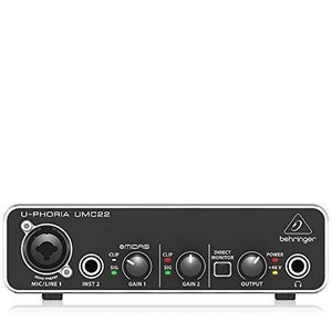 ベリンガー 2入力2出力 USBオーディオインターフェース UMC22 U-PHORIA sazanamisp