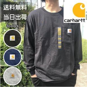 カーハート ロンT Tシャツ 長袖 カットソー CARHARTT ポケット メンズ レディース ユニセックス RN14806 K126|sb02