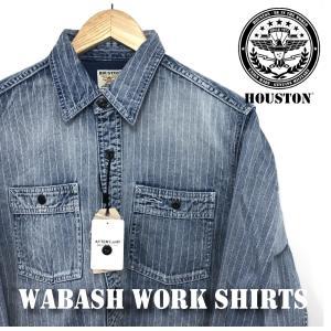 ヒューストン ウォバッシュ シャツ ワークシャツ ビンテージ アメガジ 40691 インディゴ ヴィンテージ HOUSTON メンズ|sb02