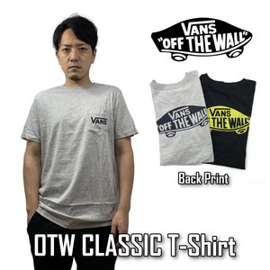 VANS Tシャツ 半袖 バンズ メンズ ヴァンズ OTW CLASSIC VN0A2YQV ブラック グレー|sb02