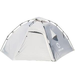 クイックキャンプ ダブルウォール ドームテント ラージ 4人-5人用 グレー