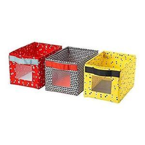IKEA/イケア ANGELAGEN:ボックス18x27x17 cm 3個セット マルチカラー (3...