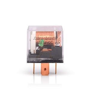 FOSHIO 2個 12V 60A SPDT 5ピン 配線ソケットスターター防水リレー 透明ケース 汎用制御スイッチ継電器 日本語説明書付き ケーブル|sb18shop