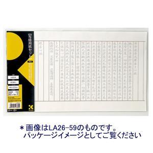 呉竹 写経用紙セット「LA26-61」折り目なし 用紙50枚他|sbd