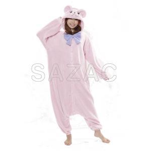 着ぐるみ 大人用 テディベア着ぐるみ ピンク フリース SAZAC(サザック)|sca-rlet