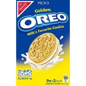 【訳あり 特価】 賞味期限:2021年7月31日 オレオ ゴールデンバニラクリーム (18枚) クッキー|scbmitsuokun1972