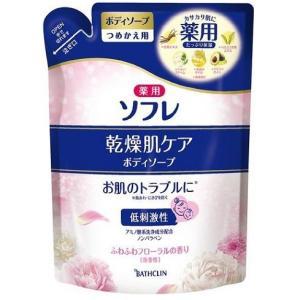 バスクリン 薬用ソフレ 乾燥肌ケア ボディソープ つめかえ用 (400ml) scbmitsuokun1972