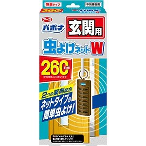 【訳あり 特価】 バポナ 玄関用 虫よけネットW 260日用 (1個入)|scbmitsuokun1972