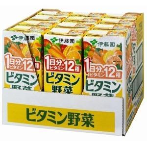 【12本セット】 伊藤園 ビタミン野菜 紙パック (200ml×12本) 栄養機能食品