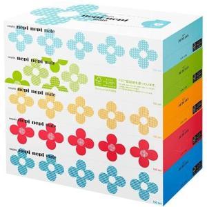 ネピア ネピネピメイトティッシュ(300枚(150組)×5個)日用品 箱ティッシュ