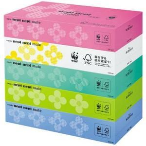 ネピア ネピネピメイト ティッシュ (300枚(150組)×5個) 日用品 箱ティッシュ