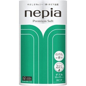 ネピア プレミアムソフト トイレットロール 石けんの香り ダブル 2枚重ね (30m×12ロール)|scbmitsuokun1972