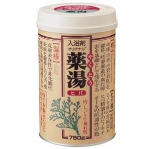 【医薬部外品】 オリヂナル 薬湯 ヒバ (750g) 秘湯気分入浴剤|scbmitsuokun1972
