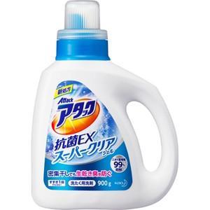 【T】 花王 アタック 抗菌EX スーパークリアジェル 本体 (900g) 洗濯用洗剤 衣類用 液体|scbmitsuokun1972
