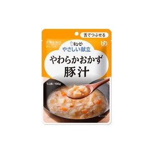 【y】 キユーピー やさしい献立 やわらかおかず 豚汁 100g 【舌でつぶせる】