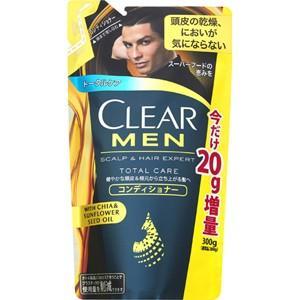 【増量品】 クリア フォーメン トータルケア コンディショナー 20g増量品 詰替 (300g) 男性用 健やかな頭皮&根元から立ち上がる髪へ|scbmitsuokun1972