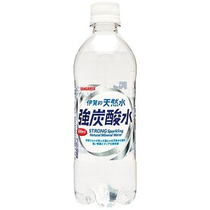【M】【24本セット♪】 サンガリア 伊賀の天然水 強炭酸水 (500ml×24本)|scbmitsuokun1972