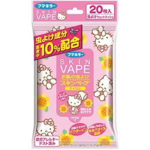 【A】 フマキラー スキンベープ ティシュー ハローキティ ピーチアプリコットの香り (20枚入) ...