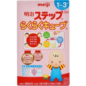 明治 ステップ らくらくキューブ (5個入 200ml分)×16袋 1歳から 粉ミルク 【A】|scbmitsuokun1972