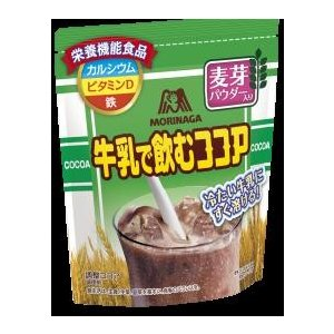 【訳あり 大特価】 賞味期限:2018年1月30日 森永 牛乳で飲むココア<麦芽パウダー入り>  (150g)